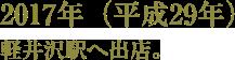 2017年(平成29年)軽井沢駅へ出展。